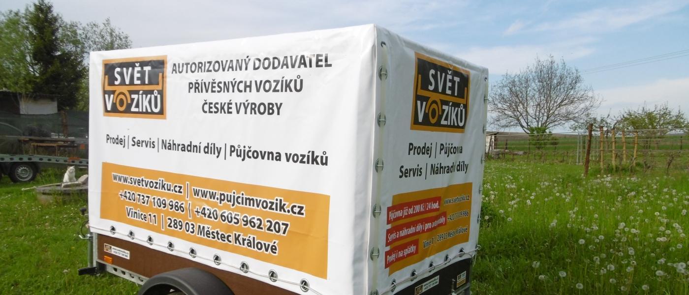Krytý přívěsný vozík se zesílenou nápravou - Miroslava